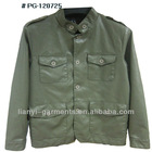2012 PG-120725 Mens Fashionable Buckle Shoulder PU Jacket Apparel Stock