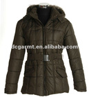 Ladies' down jacket with rabbit fur collar/down wear