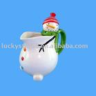 ceramic christmas tea pot