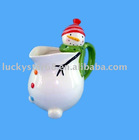 ceramic christmas tea pot