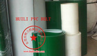 White PVC food conveyor belt