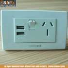 Australian and New Zealand Standard Switched USB power point in wall