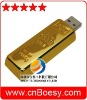 Gold bar USB flash drive,gift gold usb stick,promotion usb memory drive.