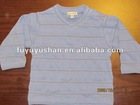 100%cotton baby's long sleeve v-neck knitted t-shirts
