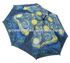 double layer straight golf umbrella