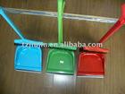 colour plastic broom set/handle broom/plastic cleaning dustpan with brush