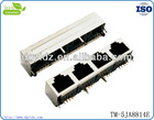 rj45 1*4 shield female socket with 90 degree for wiring accessories