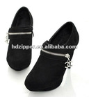 5# silver color closed end metal zipper for shoes