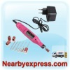 Mini PEN ELECTRIC NAIL ART FILE DRILL Machine + 6 BITS EU Version