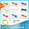sync&charging flat cable for iphone 5 ipad mini