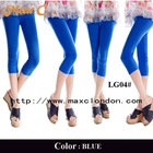 2013 New arrival blue cotton hot fashion ladies leggings sex photo
