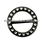 Fashion garment accessory black plastic buckle