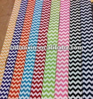 Custom printed grosgrain ribbon with zig zag pattern