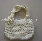 Flower spring crochet bag with hollow out