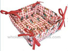 cotton printed kitchen food basket