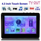 4.3 inch Touch Sreen MP4 MP5 Player, Support FM Radio, E-Book, Games, TV Out