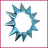 2012 New Fashion Blue Frost One Row Punk Style Spike Hedgehog Rivet Bracelet, Hot Sale Stretch Adjustable Rivet Spike Bracelet