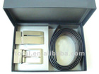 Gift Set PU business two buckle fashion new designer men belt