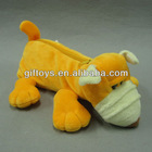 Cute Orange Dog Plush Toy Pencil Case