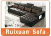 Leather L shape sofa C2013/home sofa set