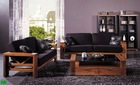 2012 modern sofa w/wooden base in maple finish