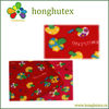 Flower fleece fabric with many designs in-stock selling!