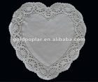 round white paper doily for food plate