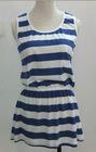 linen dress linen stripe dress short dress tailor make suit linen cotton fabric