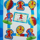 1ST BIRTHDAY PARTY PAPER DECORATION KIT - BLUE