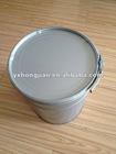Simple painting with metal handle steel bucket