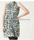 ladies reactive floral printing sleeveless fashion dress