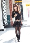 Lovely dot chiffon skirt/sweet render dress