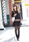 Lovely dot chiffon skirt/sweet render dress