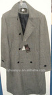 long heavy winter keep warm 4 buttons wool coats for men adult
