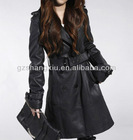 2013 new design women's pu leather fur winter coat