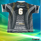 custom heat transfer print rugby shirts