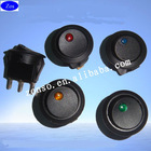 12V ON/OFF Dot led Round rocker switch Red,Green,Blue ,Yellow