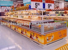 Refrigerated Island Freezer for hypermarket