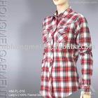 women casual check shirt