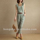 Summer sleeveless butterfly design jumpsuit Hsj-010