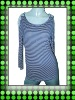 women`s yarn dye long sleeve t-shirt,viscose tshirt