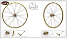 golden anodized alloy wheel rim 26inch bike sport wheel MTB
