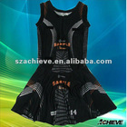 lycra netball dress sublimated black netball dress