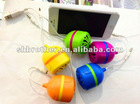 Top Selling 2012 !!! So MINI New Design FashionPortable ball mini speaker/ 3.5mm audio dock/MINI Speaker