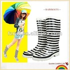 Zebra-patterned ladies stylish rainboots