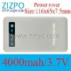 4000mah 5v1a battery charge Portable Power Source power bank power rover Battery Charger