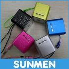 2012 Portable Mini USB FM Radio Speaker Aluminuim material