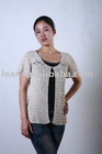 Ladies' 100% Viscose Crochet cardigan LAQ-4480