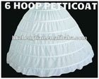 6 HOOP BONE BRIDAL WEDDING GOWN DRESS CIVIL WAR RENAISSANCE PETTICOAT SKIRT SLIP