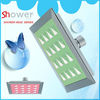 3227 green triangular pattern Leelongs 6 inch ABS Square Top Ceiling Overhead Shower